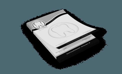 Receituário com 100 folhas Preto e Branco